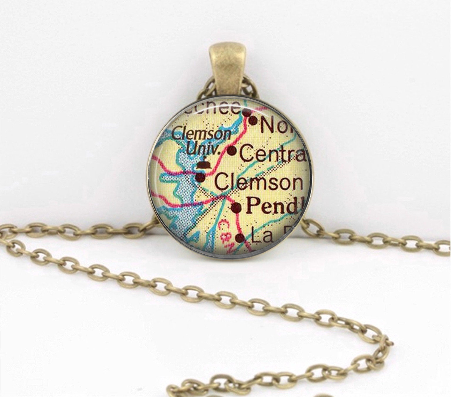 university disc p large pendant clemson logoart