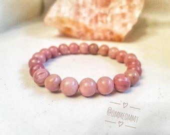Rhodonite Crystal Gemstone Bracelet