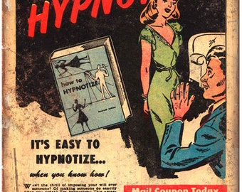 "How to Hypnotize Book Vintage Comic Ad 10"" X 7"" Reproduction Metal Sign J129"