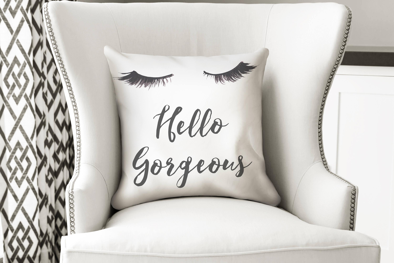 Lashes pillow Eyelashes pillow Hello Gorgeous Welcome home
