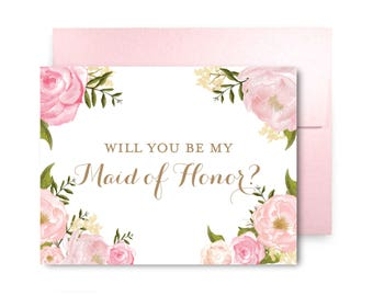 Will You Be My Bridesmaid Card Bridesmaid Cards Ask Bridesmaid Bridesmaid Maid of Honor Gift Matron of Honor Flower Girl #CL214