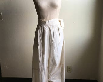 vintage white cotton early 1900s long bloomers pantaloons under pants