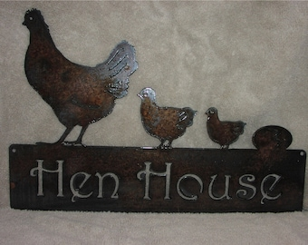 The Hen House  - Metal art
