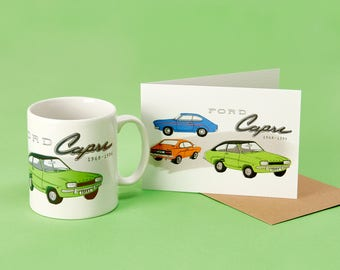 Ford Capri Mug & Card Set