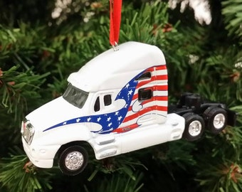 Miniature Kenworth Semi Tractor Rig Free Shipping Happy Holidays L@@k