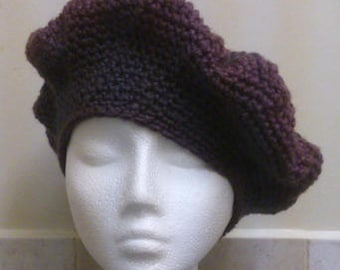 Etsy 13th Birthday Sale A beautiful Crocheted Scottish Heather Coloured Beret Perfect For a Birthday Present