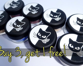 BUY 3 GET 1 FREE vegan eyeshadow sparkle pigmented opaque