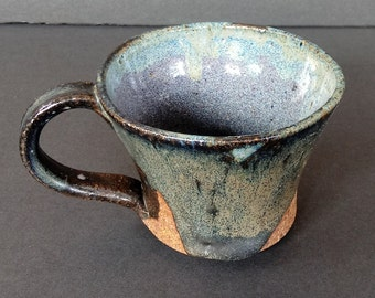 Miniature Mug ~ Pottery ~ Coffee Cup ~ Blue ~ Childs Mug ~ Tea ~ Cocoa ~ Ceramic