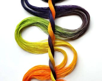 "Size 80 ""Spooky"" hand dyed thread 6 cord cordonnet tatting crochet cotton"