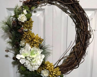 """14"""" Holiday/Christmas Forest Colored Wreath"""