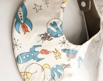 baby bib waterproof space ship last one available
