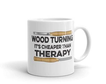 Tournage sur bois est moins cher que la thérapie tournage Funny Mug