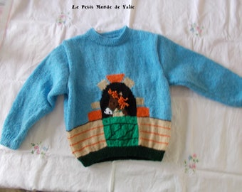 sweater mixed 8 horse pattern