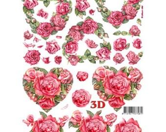 A leaf cut out 3D card making