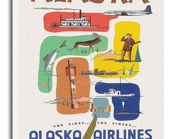 Alaska Art Travel Poster Vintage Home Decor Print Retro xr520