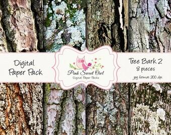 Tree bark Digital Paper Pack - Digital Background - Paper background - tree bark paper - tree bark background - tree bark digital