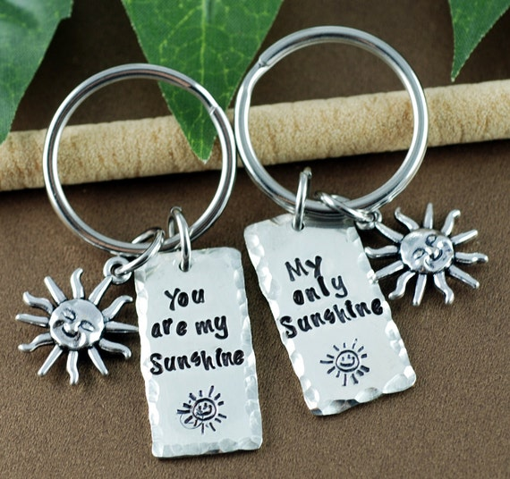 You are My Sunshine Keychain | Gift for Mom | GIft for Dad | Gift for Daughter | My Only Sunshine Gift | Father's Day Gift | Gift for Dad