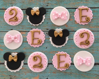 12 inspired Minnie fondant toppers