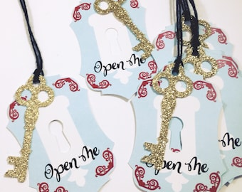 Wonderland Party Favor Tags | Onderland Party Supplies | Tea Party Birthday | Key Party Favor Tags