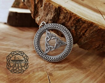 Brigid's Knot Pendant  Sterling Silver Brigid's Knot Goddess Celtic Knot Irish Pendant  Necklace Celtic Necklace Celtic Jewelry