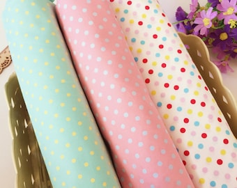 POLKA DOT FABRIC By The Yard, cute dot 100% Cotton Fabric by the yard, Quilting Fabric, Sewing Fabric