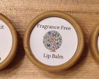 Eco Friendly Beeswax Lip Balm Tins-- Plastic Free!