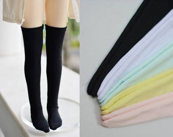 BJD Zettai ryōiki stockings thigh high pastel colour socks A138 msd 1/4 SD 1/3 SD17 SD10 yellow blue pink white black japanese school girl
