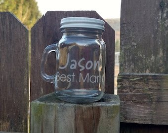 Mini Mason Jar Shot Glass - Wedding Favor Jar - Bridal Party Favor - Bridal Party Gift - Bachelor Party - Personalized - Custom
