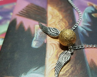"""The SNITCH IS GOLDEN charm 18"""" chain necklace"""