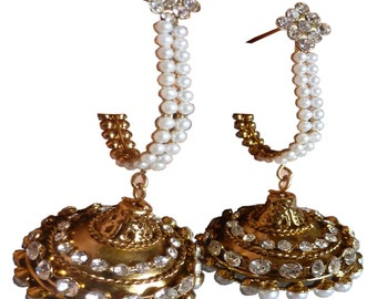 South Indian Bollywood Fashion 6cm Long Unique Light Weigh Latest Earrings Set