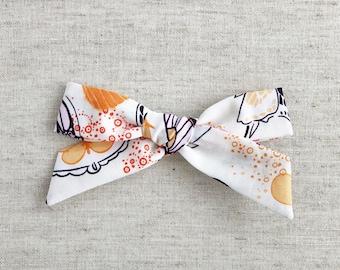 Spring Monarch - Large Schoolgirl Bow - hair clip