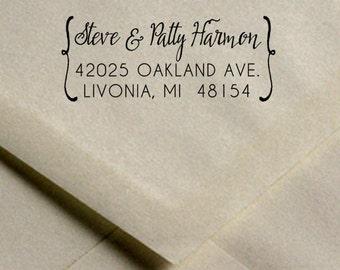 Custom Address Rubber Stamp //  Wedding Save the Date Address Stamp // Family Address Stamp