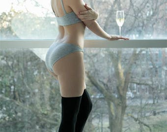 Heather Gray Underwear- Basic Bikini- Soft and comfy Panties- Other colors available- NEW