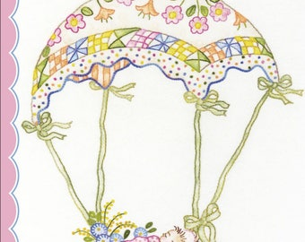"Pattern ""A Very Special Delivery"" by Crabapple Hill Studio (601) Hand Embroidery Pattern"