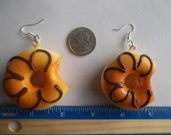 Chunky Summer Fun Soft Swirl Donut Hoop Earrings