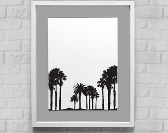 Palm Tree Instant Download Wall Art 8x10/11x14