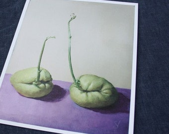 Chayote Chat - Giclée Print of original Acrylic Painting by Spring Hofeldt