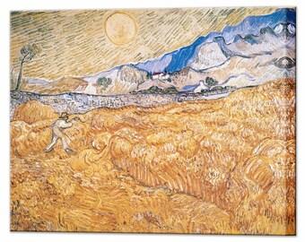 Van Gogh The Harvester Canvas Print Home Decor Ready to Hang Decor