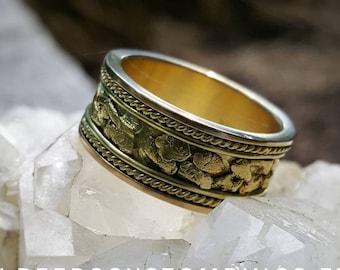 Gold Wedding Band - Gold Nugget Wedding Ring - 18K Gold Ring - Gold Wedding Ring - Gold Nuggets - Solid Gold Wedding Band - Gold Band -18k