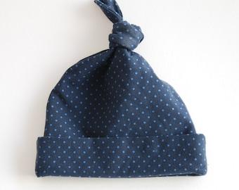 Beanie Baby - Navy blue dots