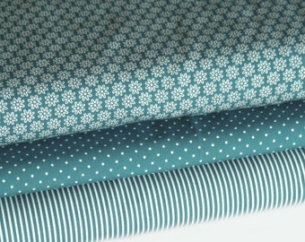 Fabric teal 3 fabric 50 x 145 cm