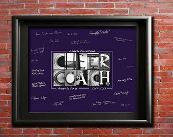 Cheerleading Gift, DIGITAL, Personalized CheerCoach Gift, Cheer Squad Gift, Cheer Team Gift, High School Cheer Gift, Varsity Cheer PRINTABLE