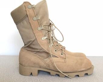 Women's Size 6 Tan Desert Combat Boots