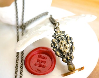 wax seal once upon a time - fairy tale fantasy wedding invitations scrapbooking