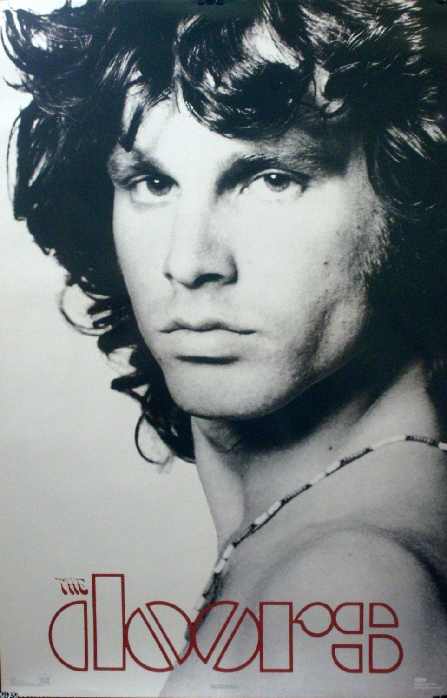 Poeta americano Jim Morrison 23 x 35 cerrar cartel 1996 las