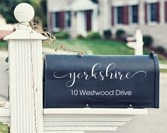 Decorative Mailbox Decal - Mailbox Sticker - Vinyl Mailbox Decal - Custom Address Mailbox Decal