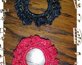 Crocheted scrunchie