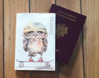 Wallet Passport leather - OWL