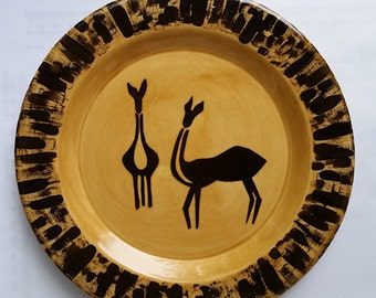 Earthenware 8 inch Antelope Salad Plate