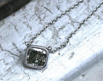 Platinum Cushion Cut Diamond Solitaire Pendant - 1.38ct.
